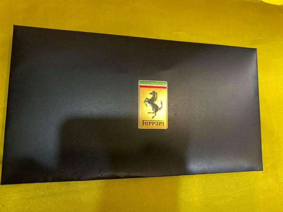 Mặt trước thư mời khai trương đại lý siêu xe Ferrari đầu tiên ở Việt Nam