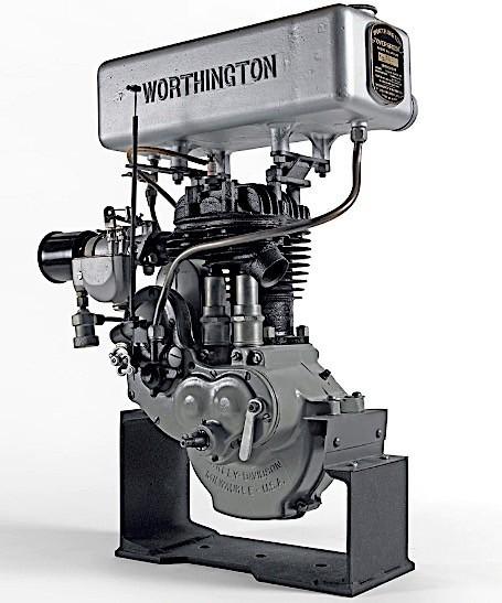 Máy cắt cỏWorthington trang bị động cơ Harley