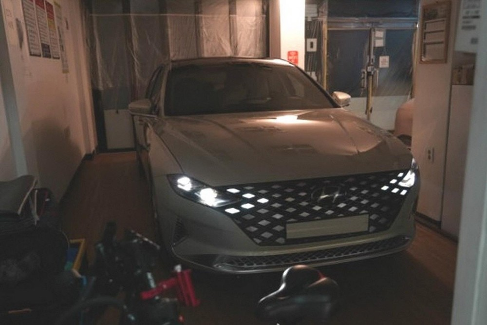 Hyundai Grandeur 2020 được bổ sung đèn pha và lưới tản nhiệt mới