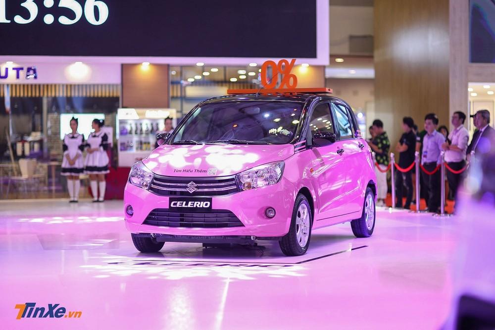 Suzuki Celerio cùng màu sơn hồng mỹ miều