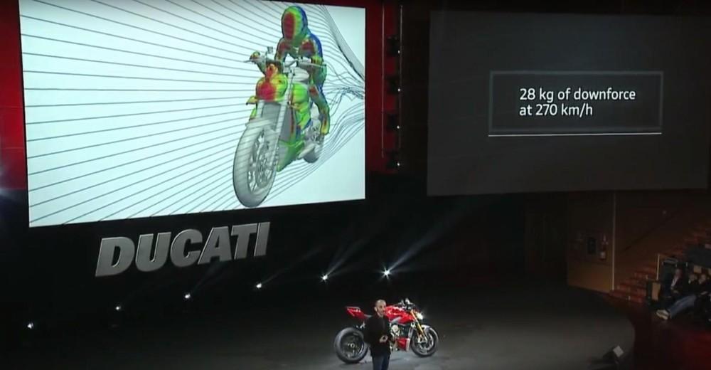 Bộ cánh gió của Ducati Streetfighter V4 có khả năng giúp chiếc xe ổn định hơn ở tốc độ cao
