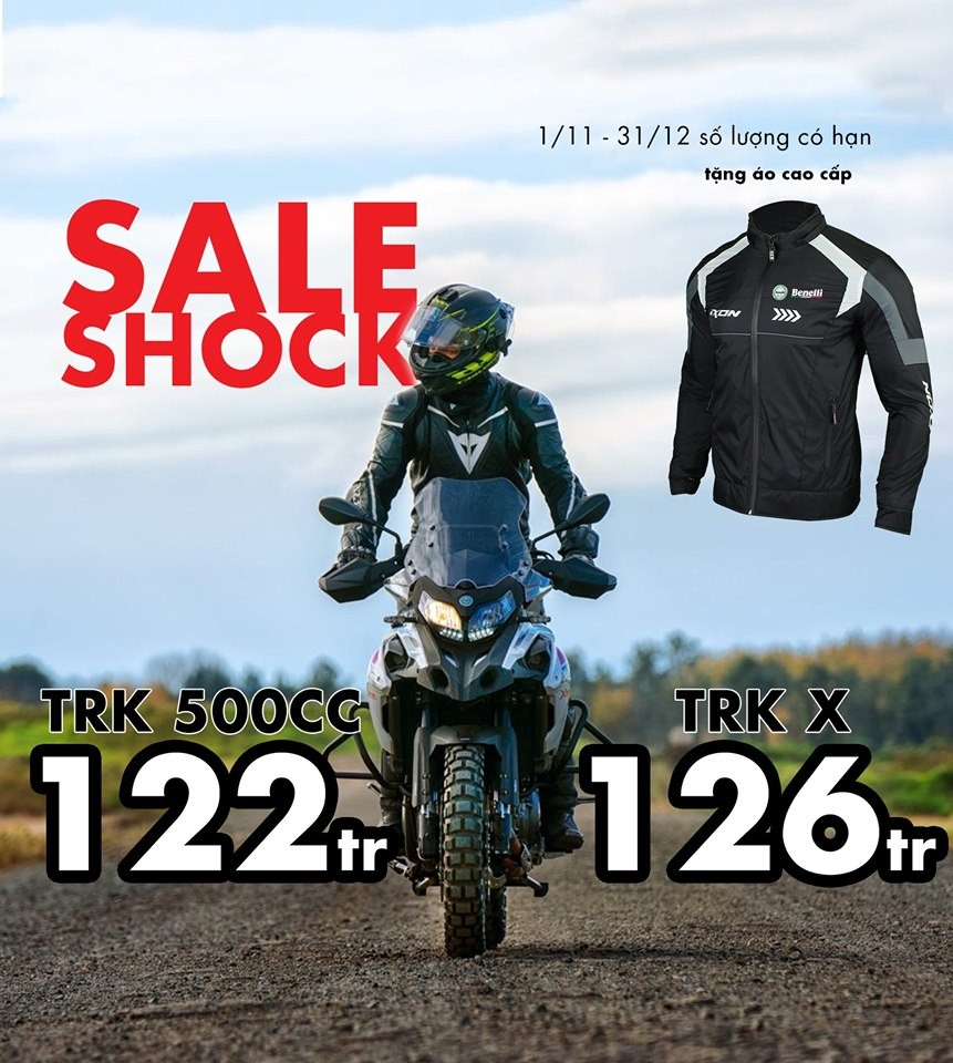 Adventure Touring TRK 502 model is discount 10 million in this discount