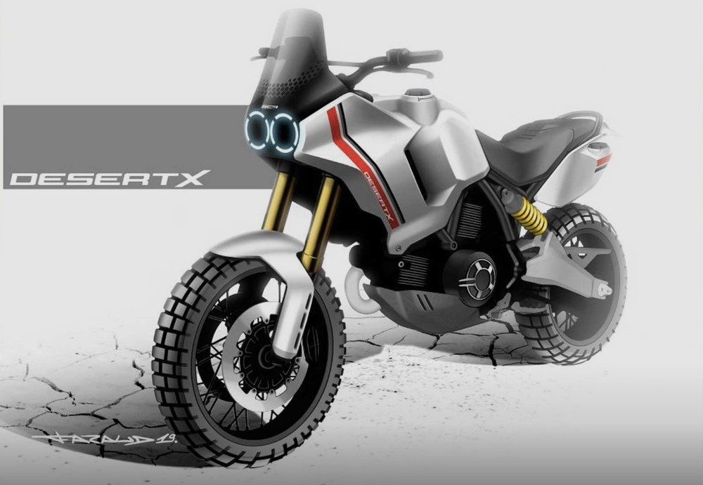 Ducati Desert X design image has just been revealed
