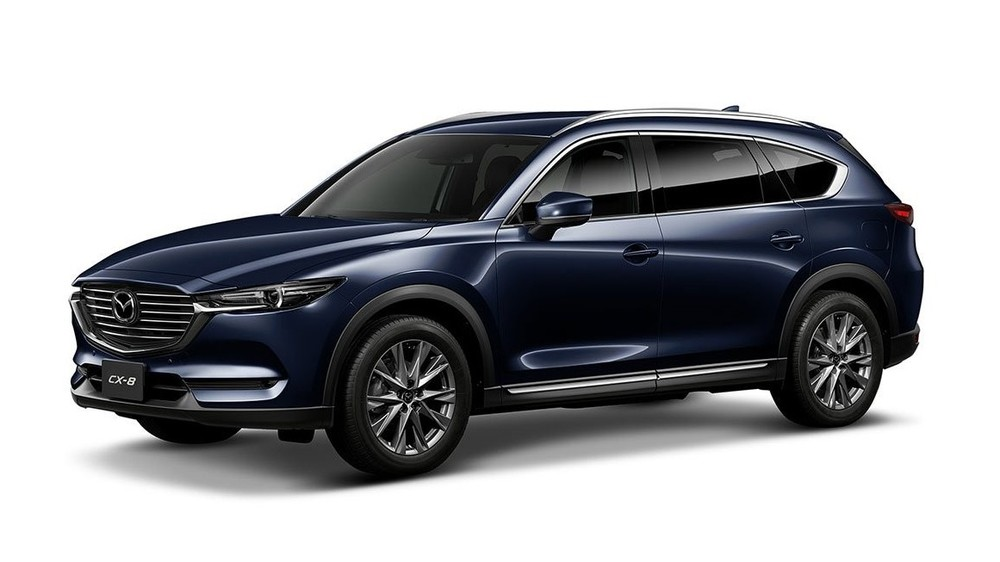 Mazda CX-8 màu xanh