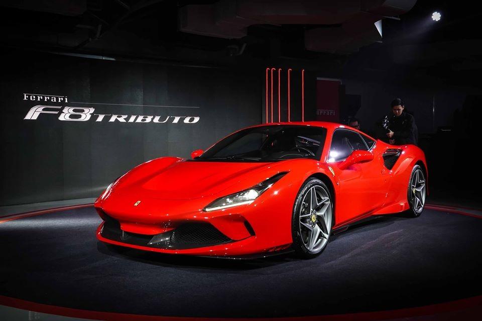 Ferrari F8 Tributo chính hãng ở Thái Lan có giá bán 19,27 tỷ đồng