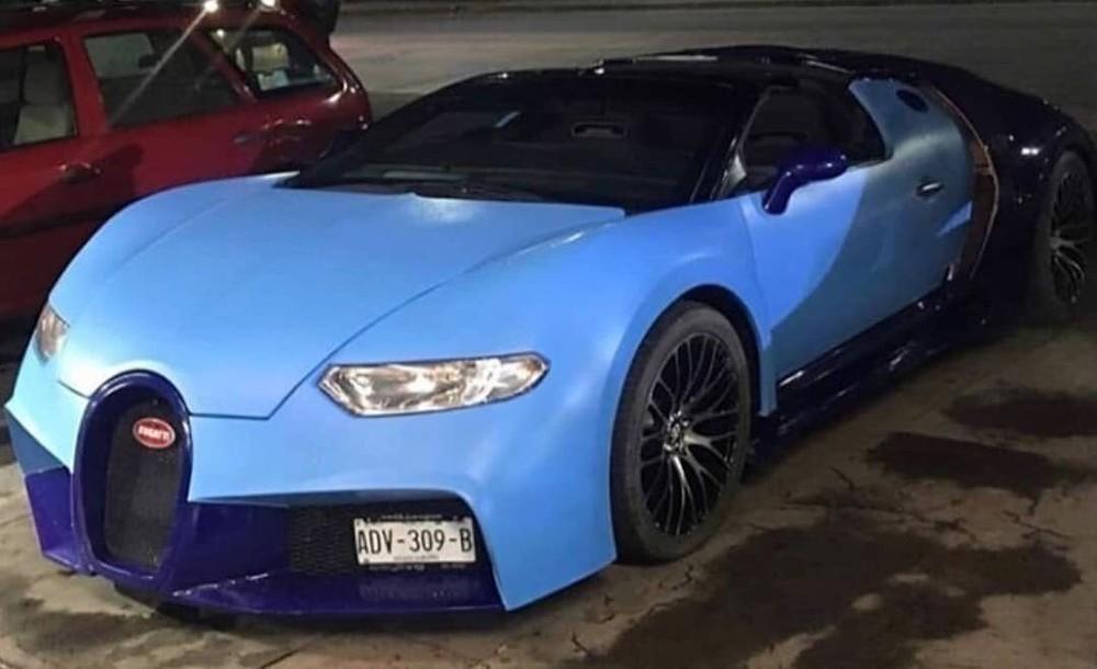 Góc nhìn phía trước của chiếc Bugatti Chiron nhái