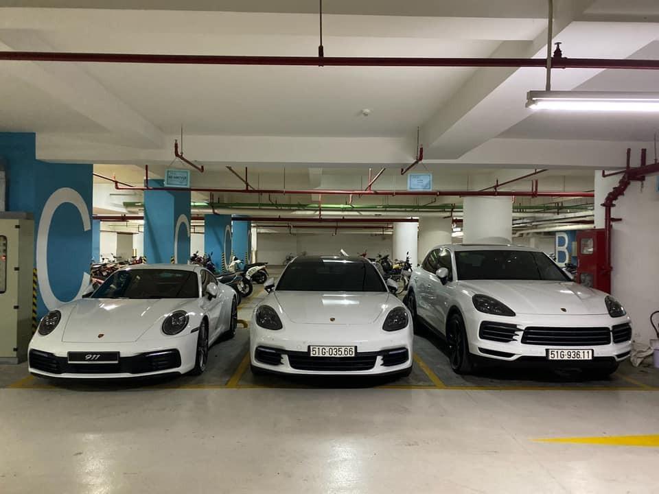 Bộ 3 Porsche của vợ chồng Cường Đô-la