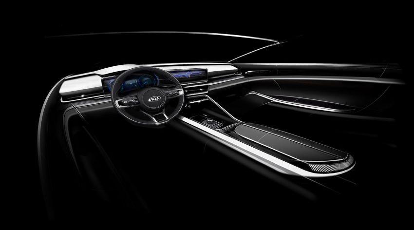 Hình ảnh phác họa nội thất của Kia Optima 2020