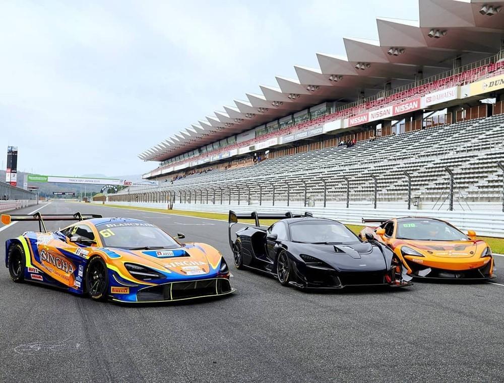 Từ trái sang phải là McLaren 720S GT3, McLaren Senna GTR và McLaren 570S GT4