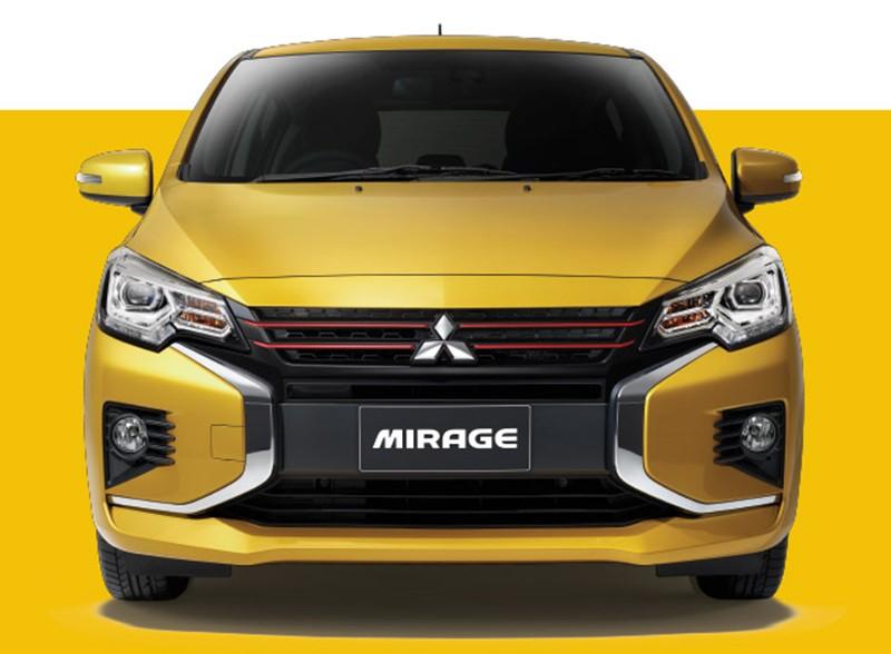 Cận cảnh đầu xe của Mitsubishi Mirage 2020