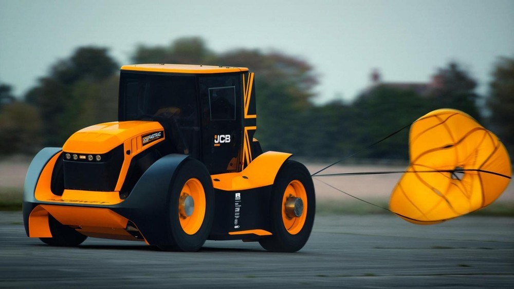 Để có thể đạt tốc độ cao và dừng lại an toàn, Fastrac Two đã được trang bị hệ thống dù