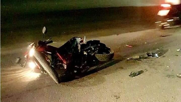 4 vụ tai nạn xe mô tô liên tiếp xảy ra trong đêm ngày 19, rạng sáng 20/11 tại Bình Dương (Ảnh: Facebook)