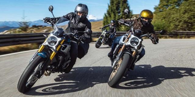 Bộ ba xe có thiết kế khá lạ mắt và được chia làm 3 phiên bản khá giống với Ducati Scrambler
