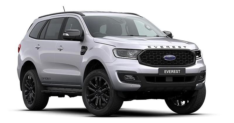 Ford Everest Sport 2020 màu Xám