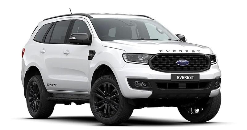 Ford Everest Sport 2020 màu Trắng