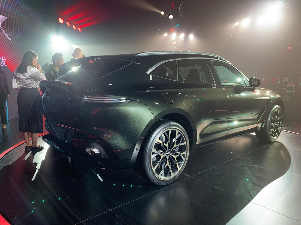 The 2020 Aston Martin DBX is equipped with taillights like the Vantage and DB11