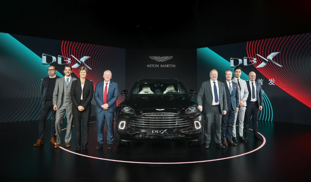 Aston Martin unveiled the 2020 DBX at the British embassy in China