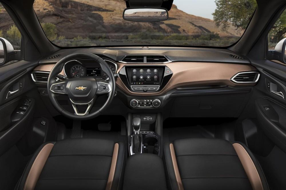 Bố trí nội thất của Chevrolet Trailblazer 2021