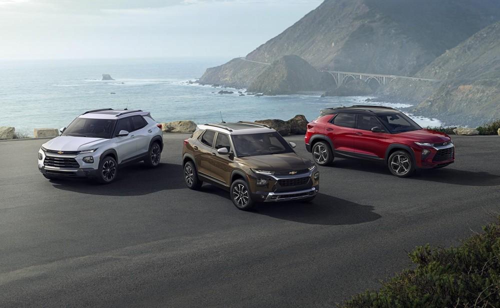 Một số màu sắc và phiên bản của Chevrolet Trailblazer 2021