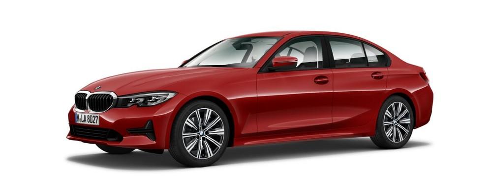 BMW 3 Series màu đỏ