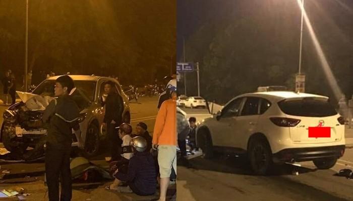 Hiện trường vụ tai nạn của xe máy và Mazda CX-5 ở Hải Phòng
