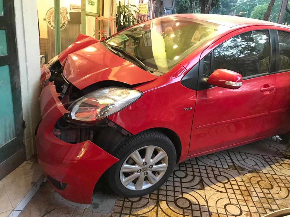 Thiệt hại của chiếc xe Toyota Yaris