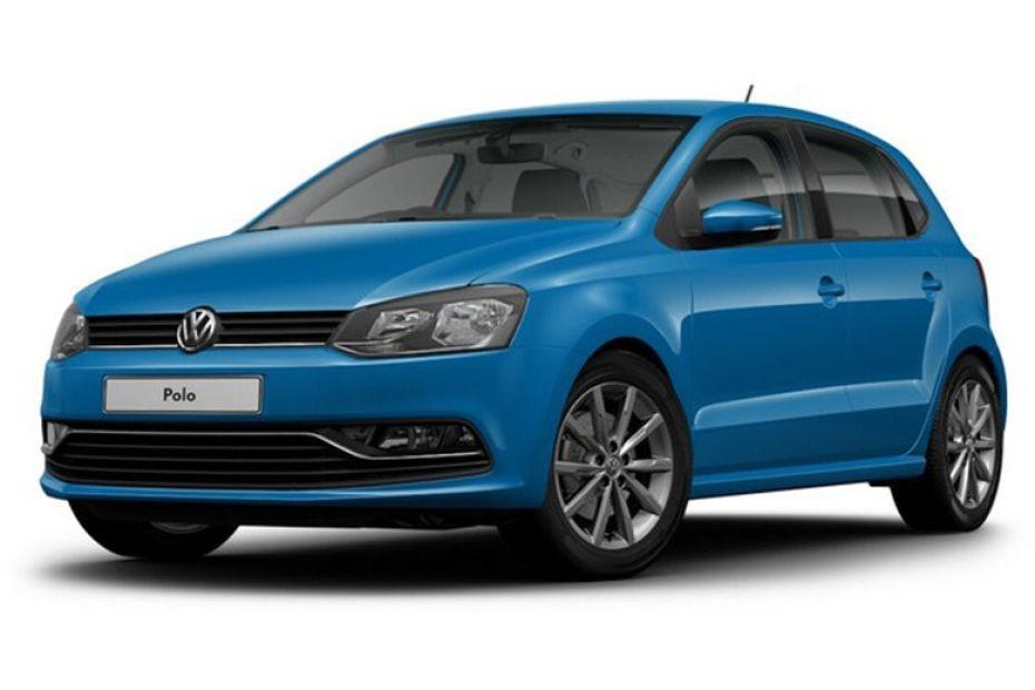 Volkswagen Polo màu xanh