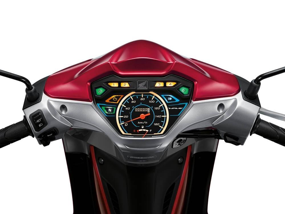 Mặt đồng hồ có thiết kế bắt mắt của Honda Wave 110i 2020