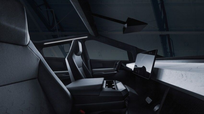 Nội thất bên trong Tesla Cybertruck