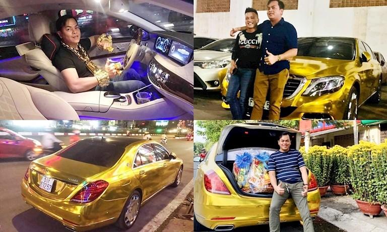 Nhưng rất dễ đoán đây chỉ là một phương pháp dán đề-can crôm vàng quen thuộc của các nhà giàu Việt hay áp dụng cho xe sang và cả siêu xe.