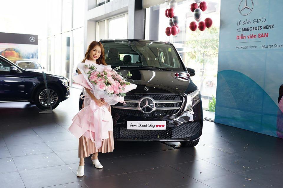 Chiếc xe MPV hạng sang Mercedes-Benz V-Class 2020 của hot girl Sam thuộc phiên bản Mercedes-Benz V250 Luxury 2020
