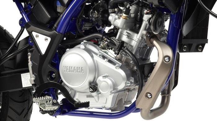 Chiếc xe sở hữu khối động cơ khá mới lạ của Yamaha