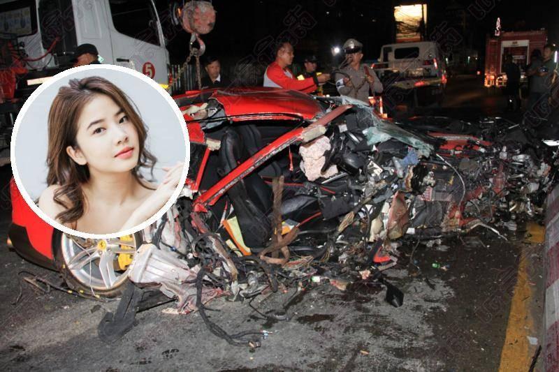 Hot girl Fon Sananthachat Thanapatpisal chỉ bị thương nhẹ trong vụ tai nạn siêu xe Ferrari 812 Superfast