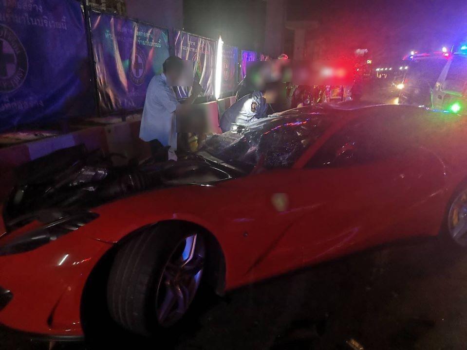 Chiếc siêu xe Ferrari 812 Superfast gặp nạn vào khoảng hơn 5 giờ sáng ngày 4 tháng 12