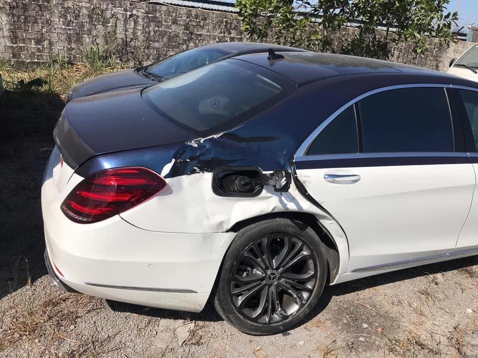 Cận cảnh thiệt hại của chiếc Mercedes-Benz S450