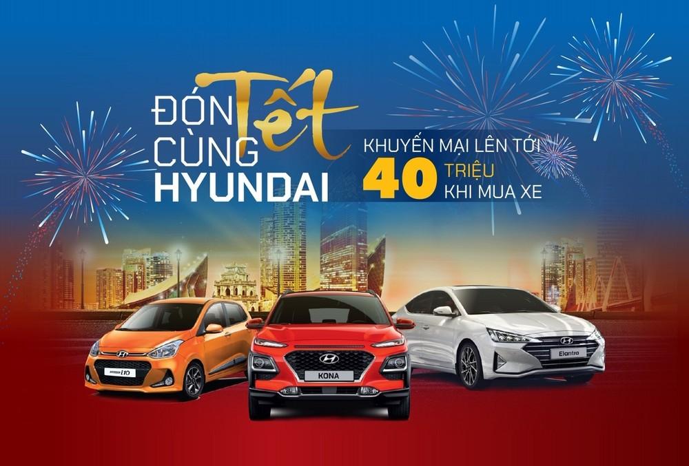 Hyundai Kona, Hyundai Grand i10 và Hyundai Elantra hiện đang được áp dụng ưu đãi lên tới 40 triệu đồng