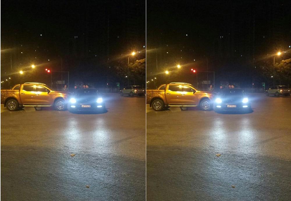 Hiện trường vụ tai nạn xe bán tải Nissan Navara với Porsche Panamera vào rạng sáng nay