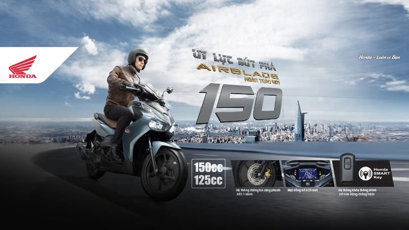Honda Air Blade 150 cc hoàn toàn mới