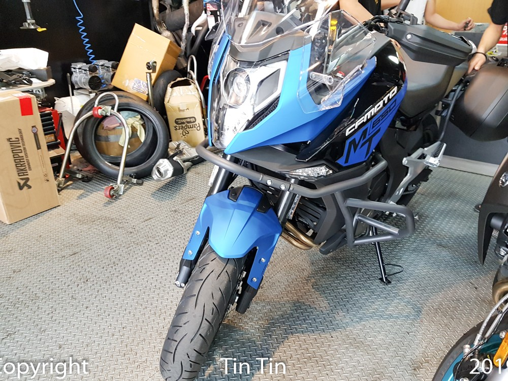 CFMoto 650MT is currently the most expensive large displacement motorbike of CFMoto brand when entering Vietnam market