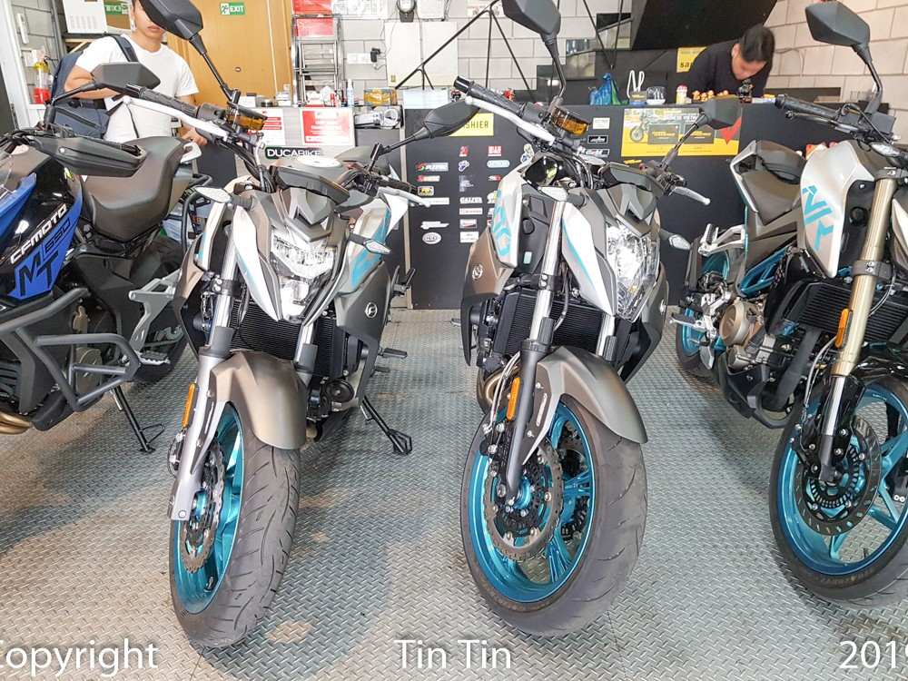 And the price of genuine CFMoto 650NK in Vietnam is VND 165 million