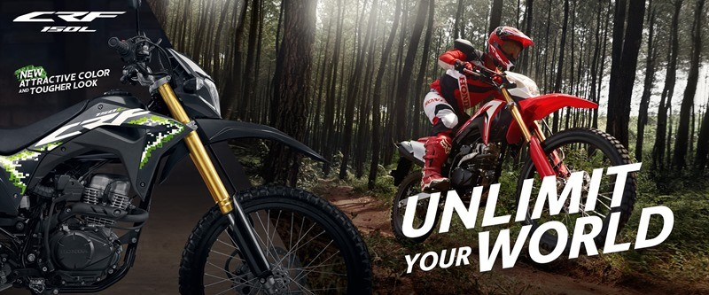 Honda CRF150L 2020 debuted with brand new color and stamp