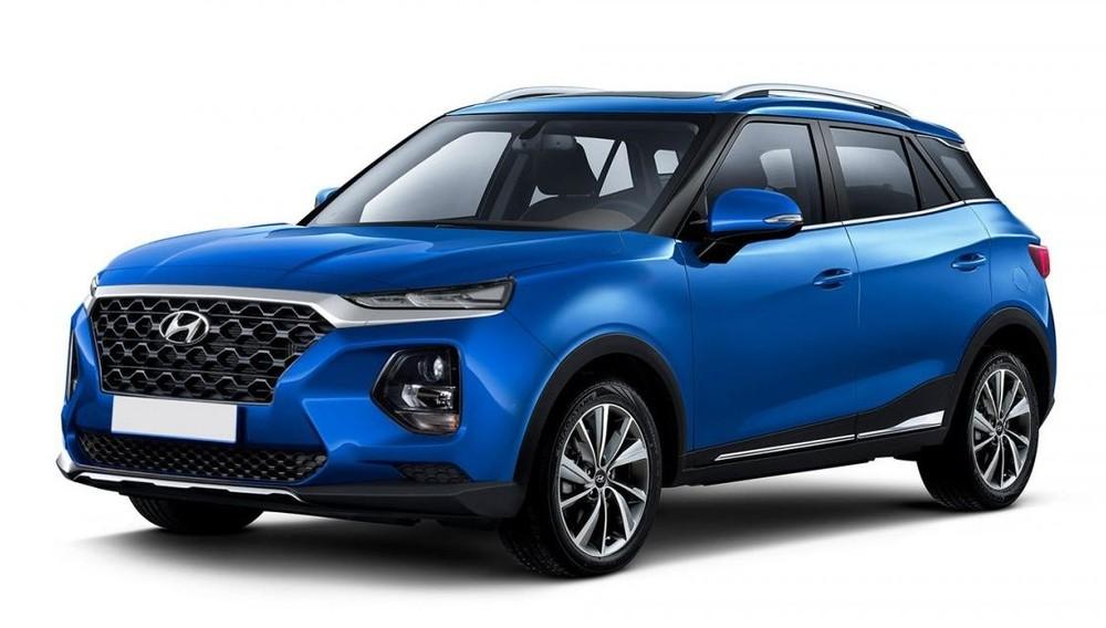 Hình ảnh phác họa Hyundai Creta 2021 theo phong cách Santa Fe