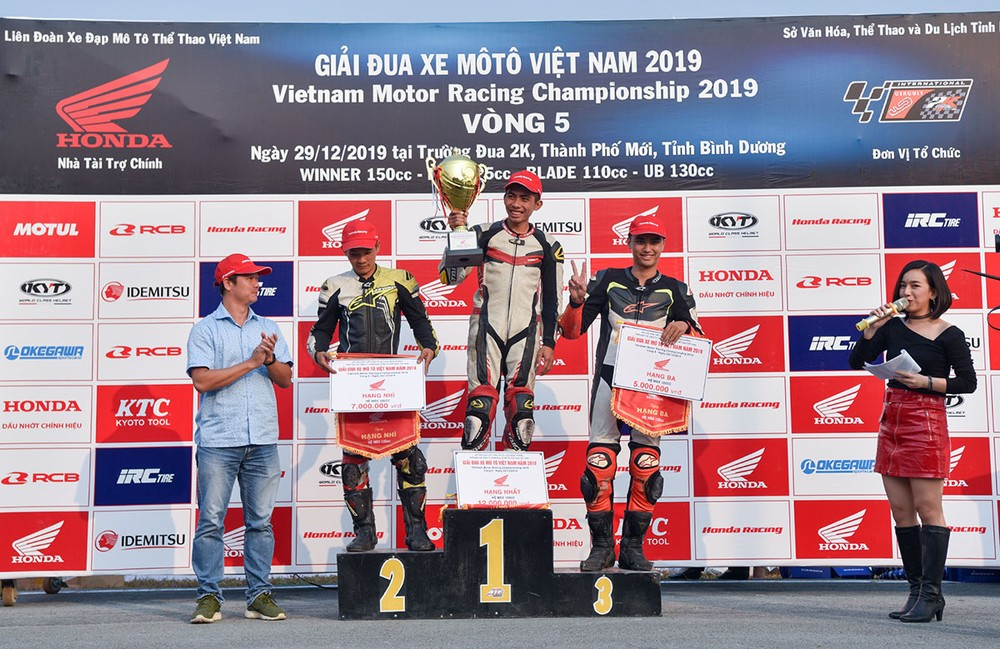 With the first place in stage 5, Nguyen Ngoc Nhan is currently leading the MSX 125cc rankings