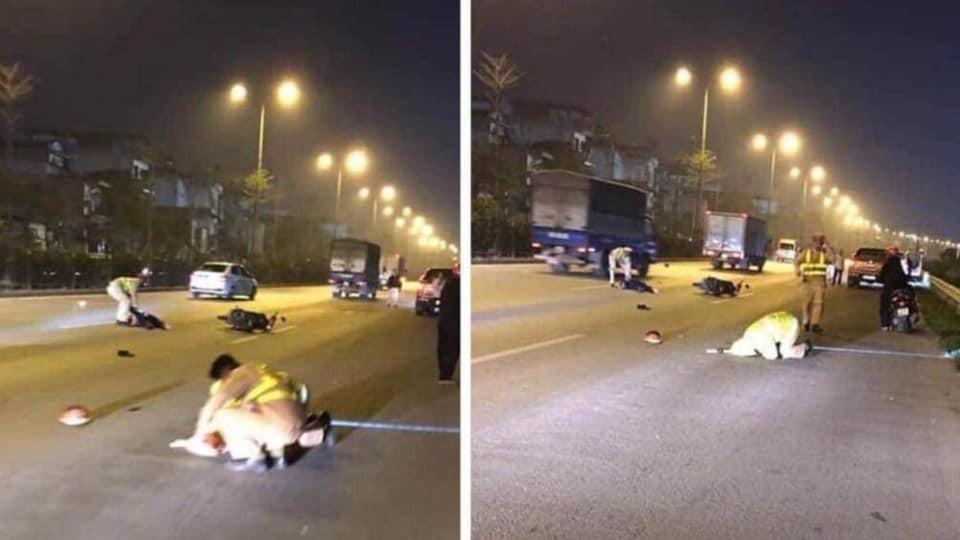 Hiện trường vụ tai nạn đâm gục CSGT trên đường QL5 tối ngày 2/1/2019