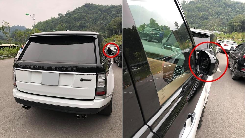 Sững sờ với dàn xe Range Rover hơn 35 tỷ đồng bị kẻ gian vặt mặt gương tại bãi đỗ xe chùa Yên Tử. Ảnh: Oto+