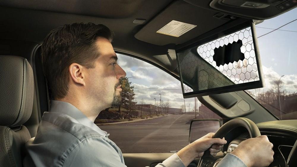 Virtual Visor là một màn hình LCD trong suốt, thông minh thay thế tấm che nắng truyền thống