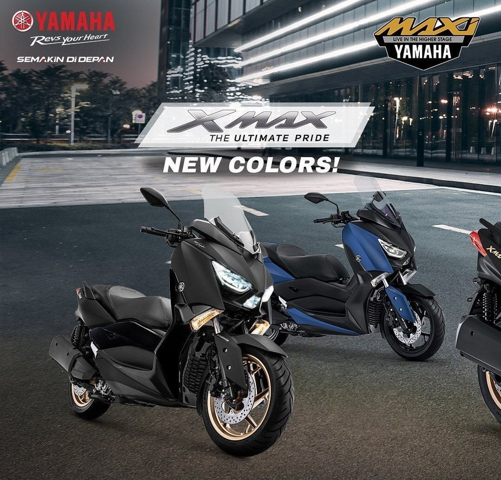Two new colors of Yamaha XMax 250 2020