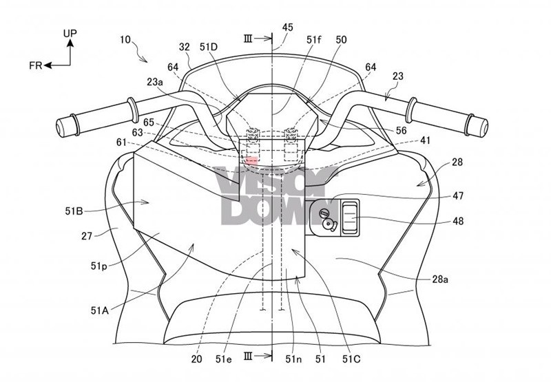 The airbag set will be placed right in the middle of the handlebar handlebar