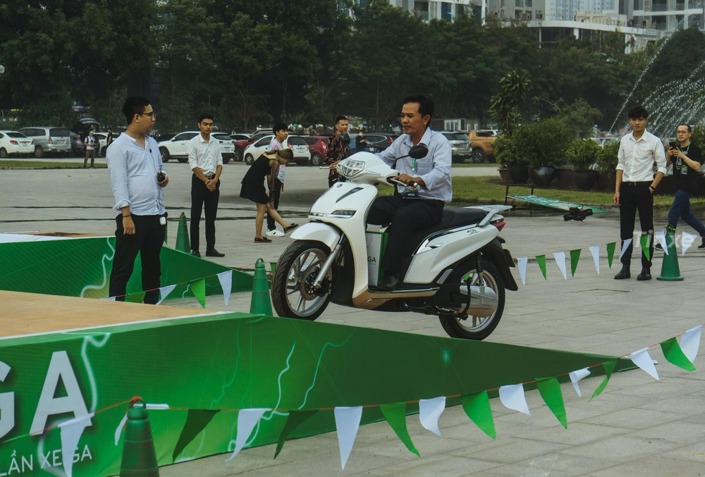 The car was tested running on the premises of the event