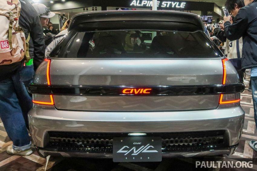 Thiết kế đằng sau của Honda Civic Cyber Night Japan Cruiser 2020